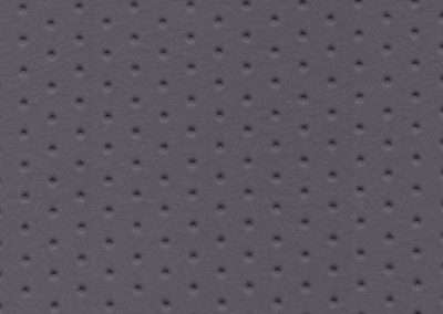 Square swatch of vinyl upholstery in grey dimples pattern