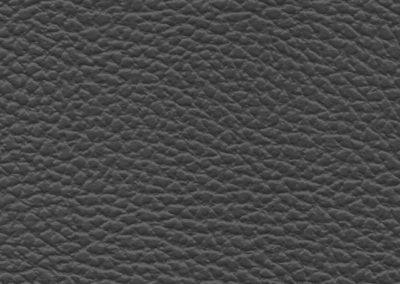 Square swatch of vinyl upholstery in grey fake goatskin
