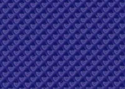 swatch of vinyl upholstery in royal blue geometric pattern